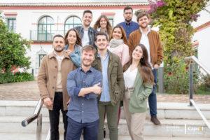 Grupo de alumnos del Instituto Cajasol en Andalucia