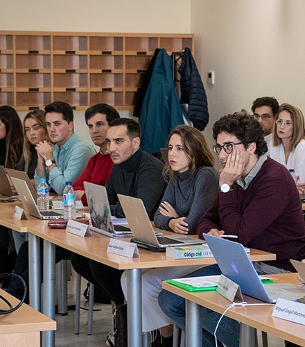 Master Marketing y Asesoria Juridica Sevilla Cajasol clase
